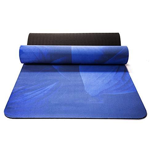 OttOen yogamat, hertenleer en TPE-materiaal, milieuvriendelijke antislip fitness trainingsmat, geschikt voor yoga, pilates en gymnastiekmatten, 173 x 61 x 0,5 cm