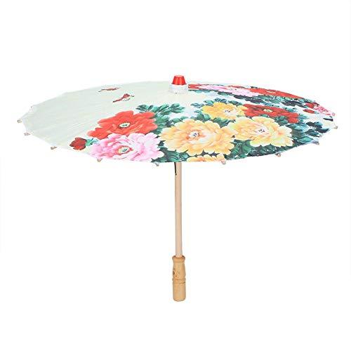 Hoogwaardige zijde stof handwerk dans paraplu bloemenpatroon klassieke druk zijdedoek paraplu plafond decoratie voor kinderen prestaties