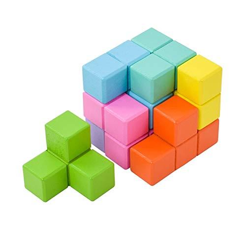 ZHIZI Babyspielzeug Holzwürfel Baustein Spielzeug, Infinite Puzzle Cube Spielzeug (Size : B)