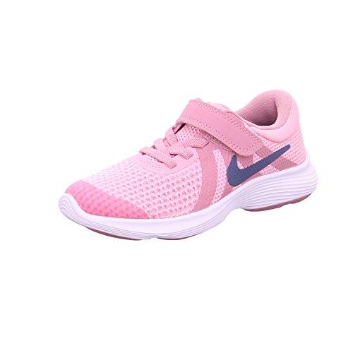 Nike Mädchen Kleinkinder Revolution 4 (PS) Laufschuhe, Mehrfarbig (Pink/Diffused Blue/Elemental Pink/White 602), 30.5 EU