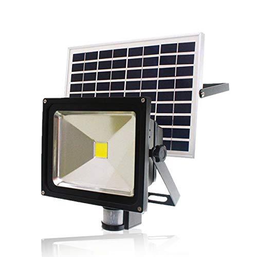 LED 30W 人感 センサー 太陽光 ソーラー ライト 投光器 明るい1000ルーメン 昼光色 IP65 防塵防水 屋外 駐車場 外灯 防災グッズ ALS-GY-SFG30W-6500K
