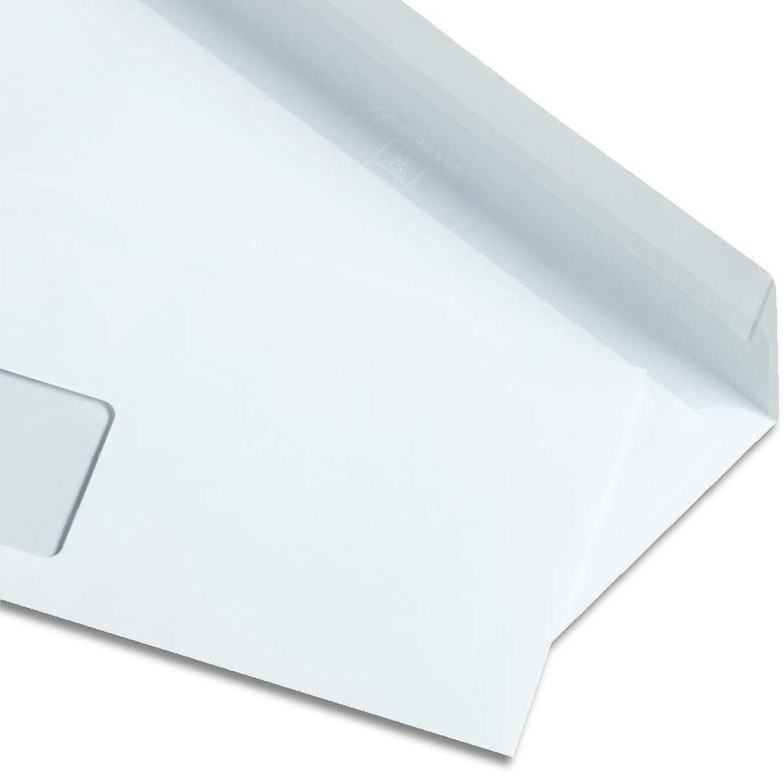 Zanders Gohrsmühle 500 Briefumschläge, DIN lang, 120g qm, Weiß, mit Fenster, Haftklebeverschluss B07MXL5TWP | Garantiere Qualität und Quantität