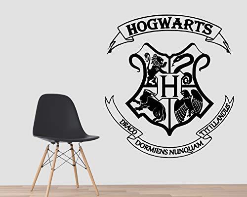 Kuarki | Hogwarts Wandtattoo | Harry Potter Wandtattoo | Wandaufkleber | Film Inspiriert | Hohe Qualität | Drei verfügbare Dimensionen (S)