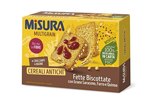 Misura Fette Biscottate Multigrain | ai Cereali Antichi | Confezione da 320 grammi