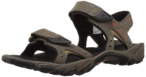 Columbia Men's SANTIAM 2 Strap Sport Sandal, mud, Heatwave, 8 Regular US