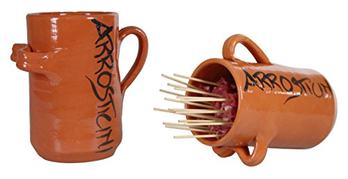 Unbekannt Krug-Spießchen aus Terracotta typische Abruzzen klein ca. 30Grillwanne