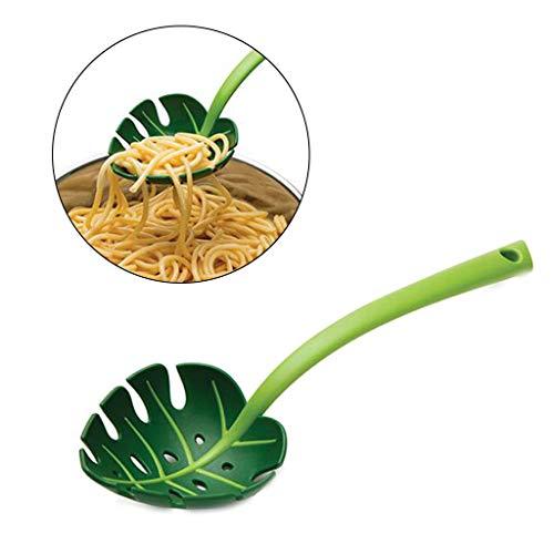 Cicitop Lebensmittelqualität Kunststoff Sieb Löffel Nessie Schöpflöffel Löffel mit verdicktem langem Griff, Suppenkelle Pasta Spaghetti Nudeln Löffel Küchenwerkzeug