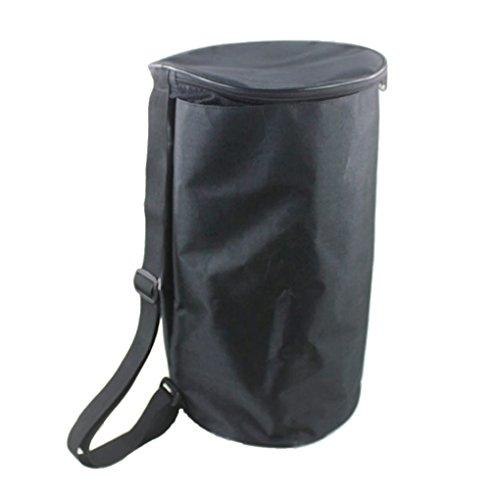 Barrel Basketball Football Baseball Volleyball Equipment Bags Sport Ball Carrier Organizer Holder Bag - Black