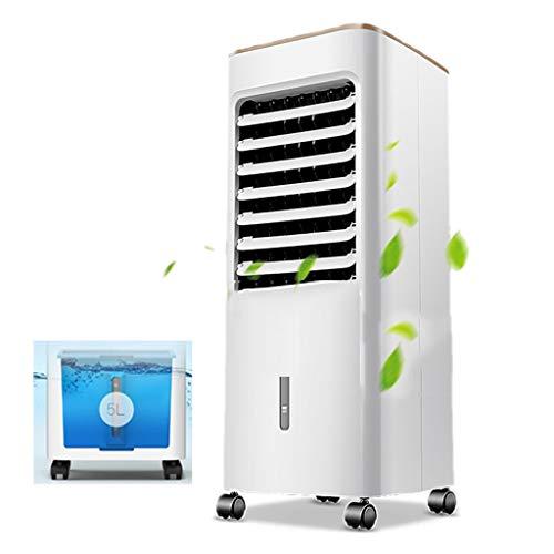 Verdunstungskühle Klimaanlage Ventilator Hausklimaanlage Ventilator Home Sommer-Lüfter Kleine Bodenstehender Kühlschrank 3-Gang-Luftvolumen Wassertankvolumen 5L (Color : Weiß, Size : 70x26.5x28cm)
