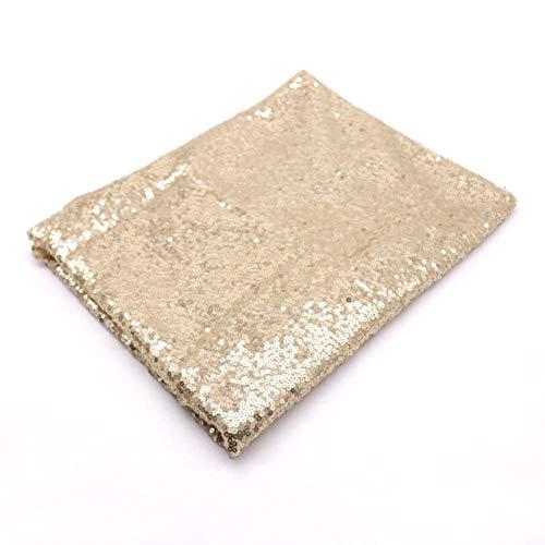 EDCV Home tafelkleed Rose Gold Sequin tafelkleed Glitter rond rechthoekig geborduurd tafelkleed voor bruiloftsdecoratie, Champagne