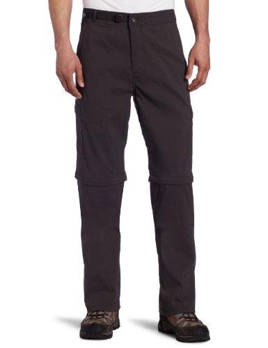 prAna Men's Stretch Zion Convertible Pant, Charcoal, 38W 34L