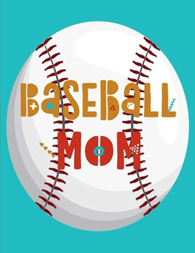 Baseball Mom: Notebook (Journal, Composition Book) (8.5 x 11 Large)