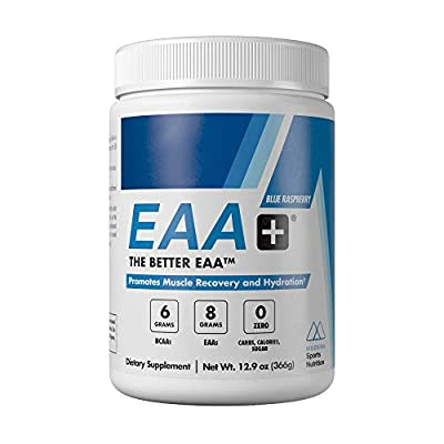 Modern's EAA+ | Essential Amino Acid Powder Blue Raspberry | Post Workout Muscle Recovery & Hydration Drink | 8g EAAs, 6g BCAAs, Sugar Free, for Men & Women | 30 Servings