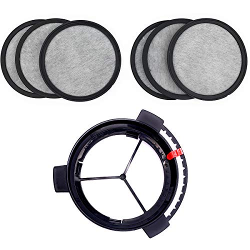 Replacement Coffee Maker Water Filtration Set Filter Disk with Frame for Mr. Coffee Brewers Coffee Maker - Water Filtration Kit 6 months supply(1Disk Frame +6Filter Disks )