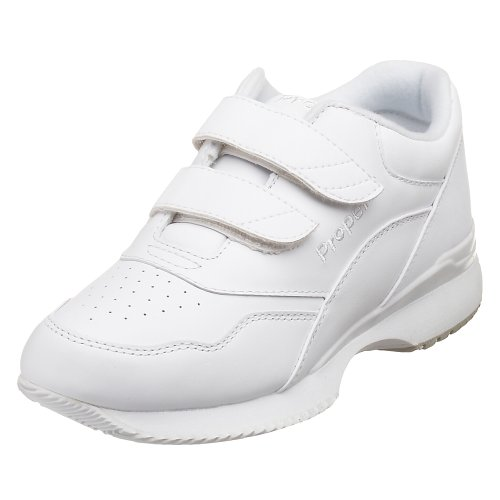 Propet Women's Tour Walker Strap Sneaker,White,8 W (US Women's 8 D)