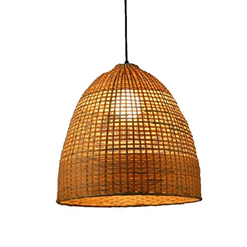 Hanglamp van bamboe, Chinese bamboe, hotels, slaapkamer, Japans restaurant, theepot, theelicht, handgeweven, rotan, 40 x 50 cm, verlichting dome