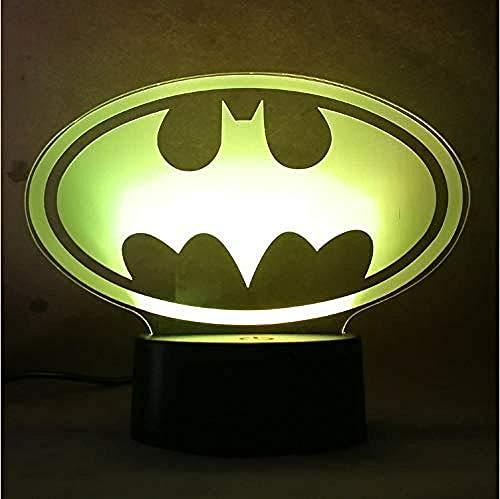 BZL POP Cool New Symbol 3D Light Night 7 Colores Cambio LED Lámpara de Dormitorio USB Cumpleaños Lámpara de Mesa Decoración de luz