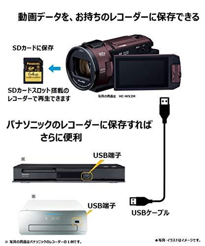 パナソニック4KビデオカメラVZX992M64GB光学20倍ズームアーバンレッドHC-VZX992M-R