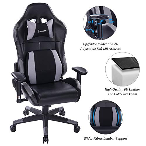 Gaming Elegant Reclining Computer Desk Soft Memory Foam Seat Cushion-Ergonomic Office Chair with...