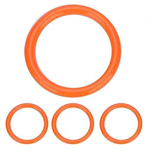 O-Ring Dichtung Ring aus Polyurethan Dichtungringe Gummi für Siphondichtung (Rot)