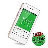 【公式販売】GlocalMe G3 モバイルWiFiルーター simフリー 1.1ギガ分のグローバルデータパック付け 4G高速通信 世界140国・地区以上対応 iPhone・Xperia・Huawei・Galaxy・iPadなど対応 5350mAh充電バッテリー搭載 ポケットwifi(ゴールド)