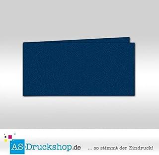 Faltkarte - Königsblau - mit Perlmutt-Glanz Perlmutt-Glanz Perlmutt-Glanz 50 Stück DIN Lang quer B0794XR7KZ  eine große Vielfalt 84577f