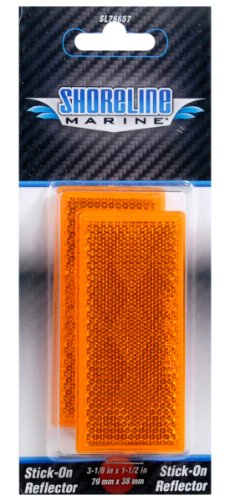 Self-Adhesive Rectangle Reflector Amber