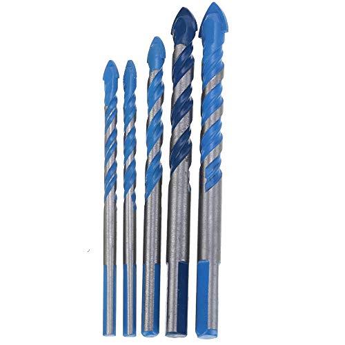 Brocas Para 6/6/8/10 / 12mm Titanium Steel Drill Bit Anti-Slip Muro de hormigón Taladro de madera Juego de herramientas eléctrico