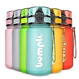 bumpli® Kinder Trinkflasche SoftTouch - auslaufsicher & Kohlensäure geeignet - BPA-freie Kindertrinkflaschen mit Fruchteinsatz - Perfekt für Schule, Kindergarten, Sport - 350ml