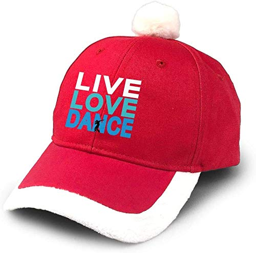 Live Love Dance Christmas hat Party Hats Adjustable Santa hat for Christmas Party