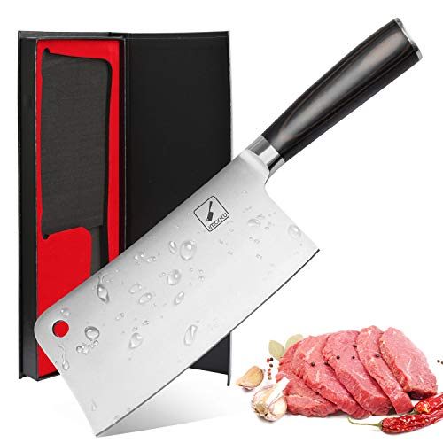 Imarku Cleaver Knife 7 Inch German High Carbon Stainless Steel Chopper...