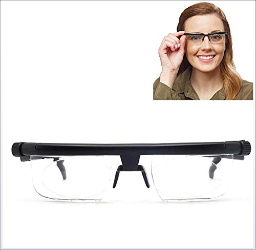 IMaxima Computer Reading Driving Unisex Eyeglasses,Adjustable Focus Reading Glasses -6D to +3D Diopters Variable Lens Correction Glasses