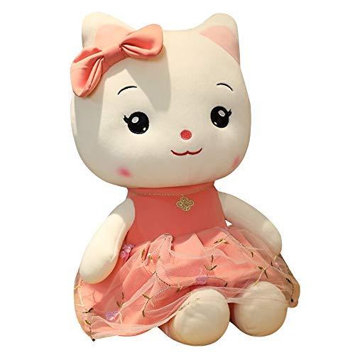 JMHomeDecor Plüschtiere 30Cm Gaze Rock Gefüllte Katzen Spielzeug Weiche Gefüllte Cartoon Tier Muschi Puppe Geburtstagsgeschenk Für Freundinnen Kinder Wohnkultur
