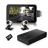 Active Media Concept Kit vidéosurveillance Anti vandalisme véhicule Auto Moto avec 2 caméras HD...