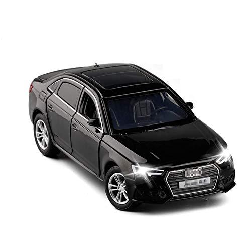 BECCYYLY Diecast Model Car 1:32 para Audi A4 Simulación Modelo de Coche Diecast Toy Car 6Doors-Sounds Open Sounds Lights Lights Hobbies Colección Niños Regalos de cumpleaños (Color: Blanco) wmpa