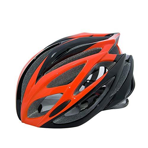 CHENGGUOFENG Casco de Ciclista íntegramente Moldeado BTT Ruta de montaña del Casco de Ciclista Entre Mujeres y Hombres Súper luz de Seguridad de protección (Color : Naranja, Size : Gratis)