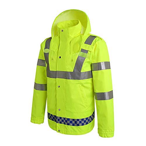 Workmans reflecterend vest met lange mouwen waterdichte regenjas regenjas capuchon poncho vest zichtbaarheid Executive werk veiligheid
