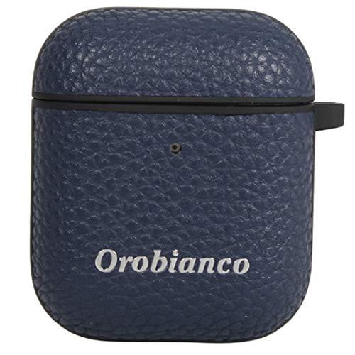 オロビアンコOrobiancoAirPods2ケースカバーiPhoneアイフォンエアーポッズシュリンクPULEATHERAIRPODSCASEネイビー