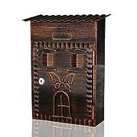 郵便受けメールボックスクリエイティブメールボックスタングロックホームメールボックスヴィンテージヴィラガーデンレターボックスロックウォール付き屋外レターボックスロック可能なレターメールポストボックス