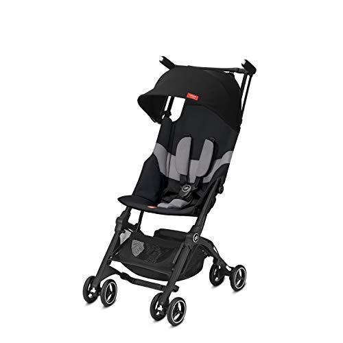 GB GOLD Buggy Pockit+ All Terrain Ultrakompakt Ab 6 Monate bis 17 kg circa 4 Jahre, Velvet Black (2019)
