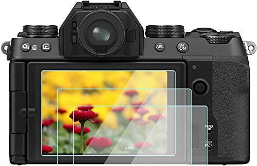 Komet Glas LCD Displayschutzfolie Folien Kompatibel für Fujifilm x-t30 x-t20 x-t10 x-t100 Digital Kamera ,0,33 mm Stärke 9H Härte gehärtetes Glas Perfect Cover (2 Pack)