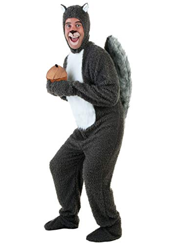 Adult Squirrel Costume Squirrel and Nut Costume - XL Gray