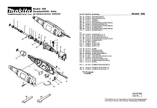 Makita 213373-4-0404 O-Ring 22, Original Ersatzteil 906