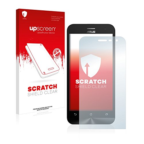 upscreen Schutzfolie kompatibel mit Asus ZenFone 2 ZE500CL – Kristallklar, Kratzschutz, Anti-Fingerprint