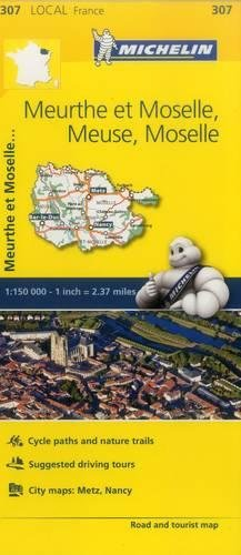 Meuse, Meurthe-et-Moselle, Moselle, - Michelin Local Map 307 (Michelin Map)