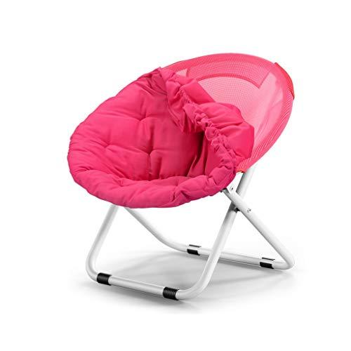 LGQ-JJU Sofá Silla Plegable Descanso For Comer Silla Silla De Salón De Acero Desmontable Y Lavable, 80 × 76 × 51 Cm (Color : Pink)