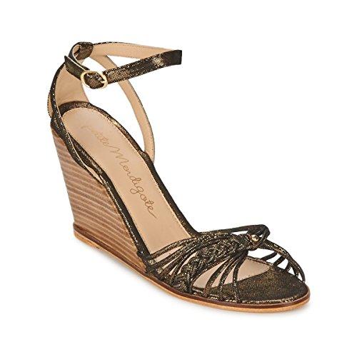 Petite Mendigote Colombe Sandali Donne Nero/Oro - 41 - Sandali Shoes