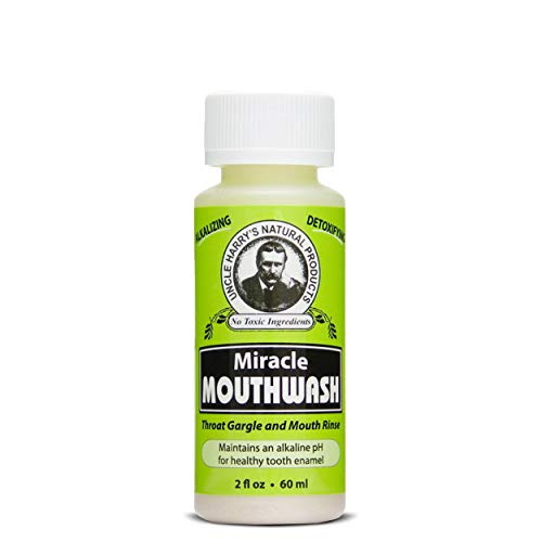 Uncle Harry's Natural Alkalizing Miracle Mouthwash | Adult & Kids Mouthwash for Bad Breath | pH Balanced Oral Care Mouth Wash & Mouth Rinse (2 fl oz)