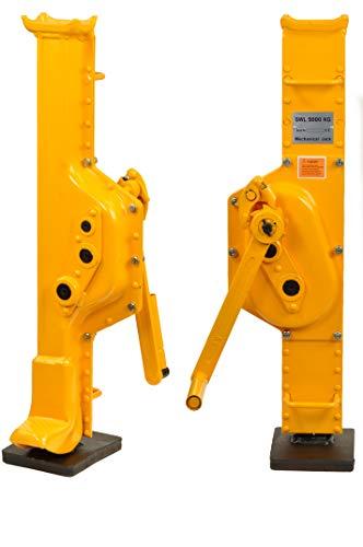 Pro-Lift-Werkzeuge Stahlwinde 5t Stockwinde mit Ratschen-Kurbel Fußhöhe 75 mm Low Steel Jack Handwinde Winde 5000kg
