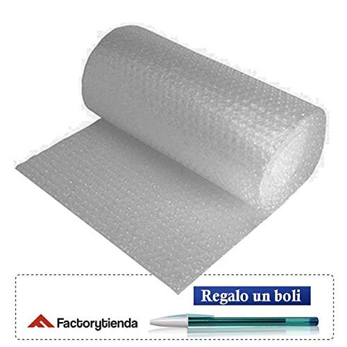 CASAIMABO Rollo de plástico de burbuja, Ancho 50cm x 40 Metros,transparente (PACK X1)